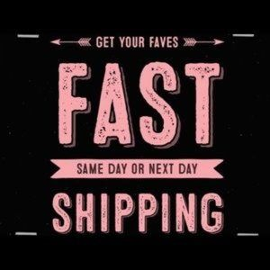Same Day Shipping if ordered by Noon Mon-Fri